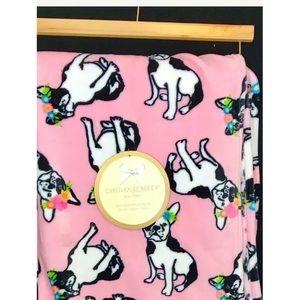 Cynthia Rowley Ultra Soft Pink Plush Throw Blanket